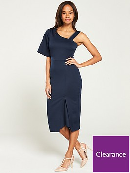 v-by-very-one-shoulder-bodycon-dress-navy
