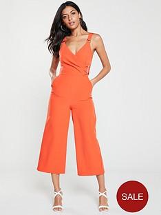 v-by-very-buckle-detail-culotte-jumpsuit-orange