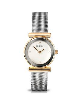 sekonda-sekonda-white-crystal-set-with-silver-and-gold-bezel-dial-stainless-steel-mesh-strap-ladies-watch