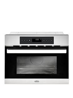 belling-bel-bi45comw-60cm-built-in-single-electric-oven-and-microwave-stainless-steel