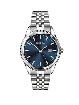 sekonda-sekonda-blue-sunray-date-dial-stainless-steel-bracelet-mens-watch