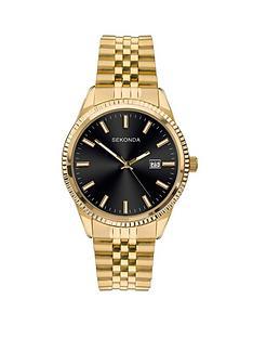 sekonda-sekonda-black-sunray-date-dial-gold-stainless-steel-bracelet-mens-watch