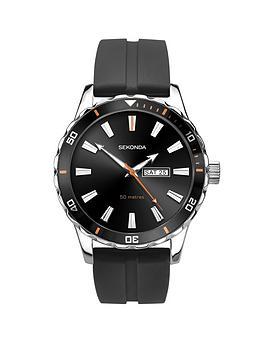 sekonda-sekonda-black-with-silver-and-orange-daydate-dial-black-silicone-strap-mens-watch