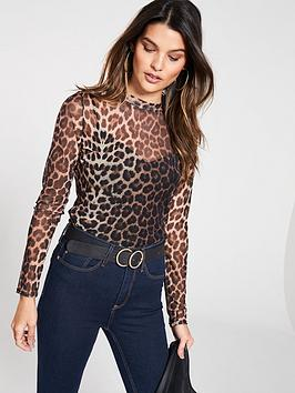 v-by-very-turtleneck-mesh-top-leopard