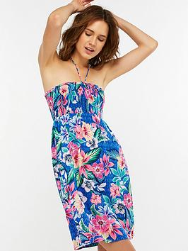 accessorize-riviera-floral-bandeau-beach-dress-multi