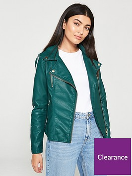 v-by-very-pu-zip-detail-biker-jacket-green
