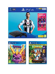playstation-4-fifa-19-ps4-500gb-bundle-with-spyro-trilogy-reignited-and-crash-bandicoot-nsane-trilogy-plus-optional-extras
