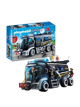 Playmobil Playmobil City Action Swat Truck With Working Lights & Sound