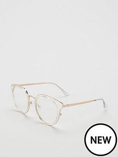 quay-australia-cryptic-blue-light-round-glasses-clear