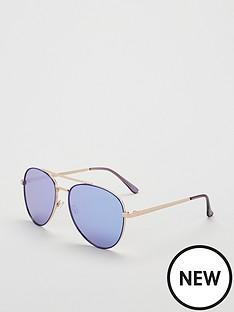 5c66420575733 QUAY AUSTRALIA  QUAYXJLO Single Aviator Sunglasses - Blue