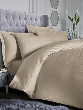 Product photograph showing Hotel Collection Luxury 300 Thread Count Honeycomb Duvet Cover Set
