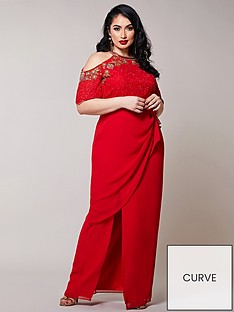 virgos-lounge-curve-virgos-lounge-curve-embellished-cold-shoulder-maxi-dress