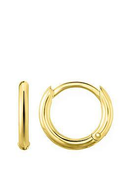thomas-sabo-thomas-sabo-18k-gold-plated-sterling-silver-huggie-hoop-earrings-s