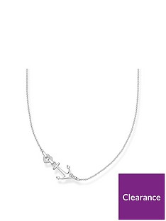 thomas-sabo-thomas-sabo-sterling-silver-cubic-zirconia-love-anchor-necklace
