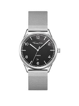 thomas-sabo-glam-and-soul-black-date-dial-stainless-steel-mesh-strap-watch