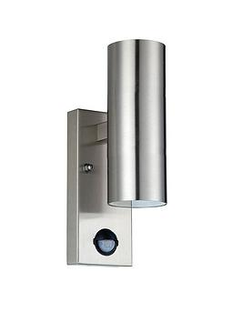 Luceco Luceco Exterior Stainless Steel Gu10 Up/Down Pir Wall Light Ip54 Picture