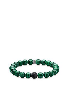thomas-sabo-thomas-sabo-sterling-silver-green-obsidian-semi-precious-stretch-mens-bracelet