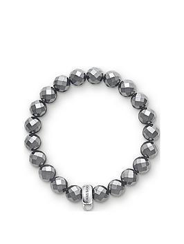 Thomas Sabo Thomas Sabo Thomas Sabo Charm Club Hematite Stone Bracelet Picture