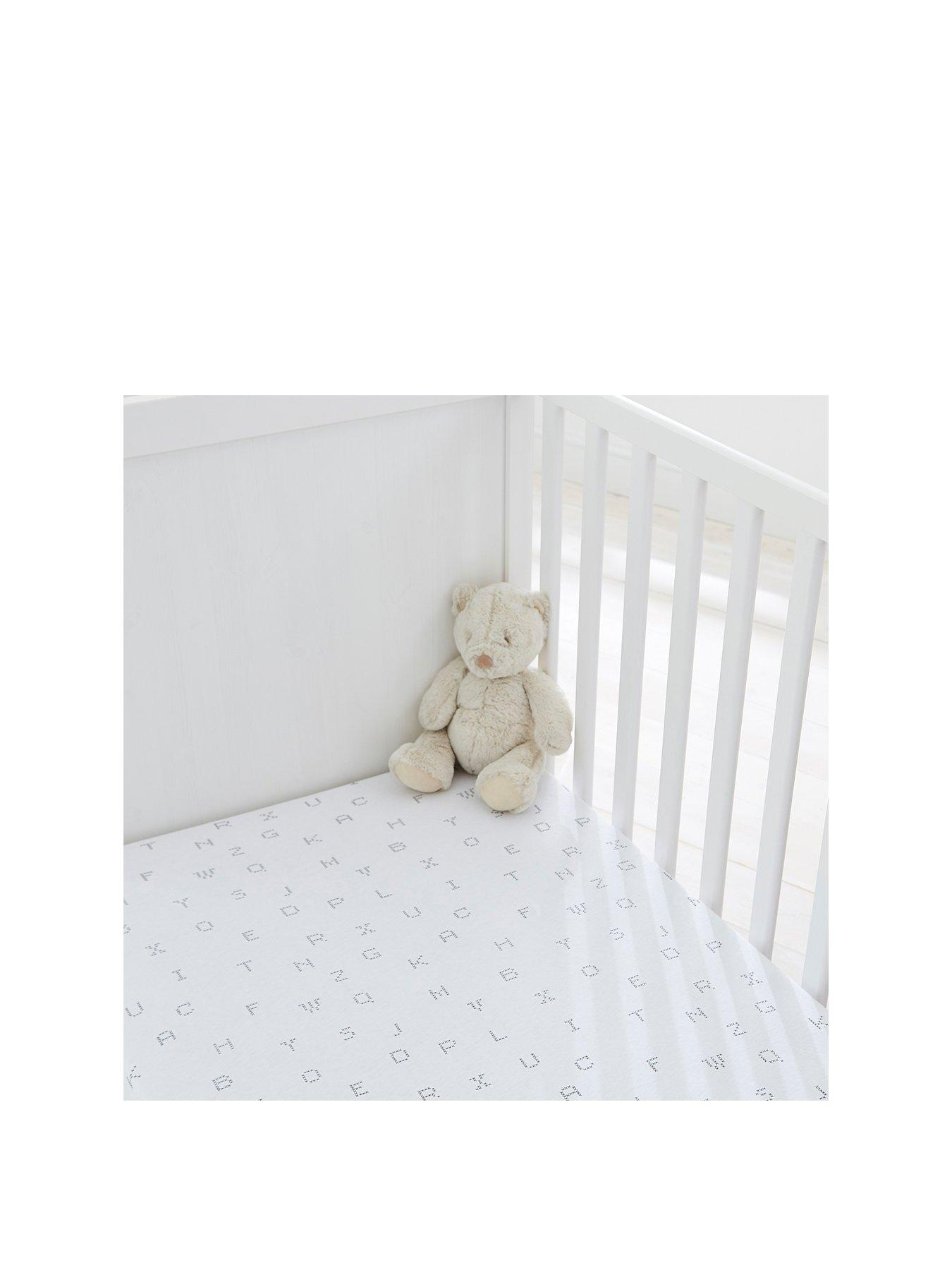 Premium Quality 100/%Cotton 2 x Travel Cot  Fitted Sheets 94 x 66 cm White