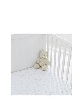 Silentnight Silentnight Silentnight Pk 2 Jersey Alphabet Fitted Cot Bed  ... Picture