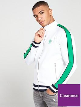 gym-king-strickland-funnel-neck-track-top-whitegreen