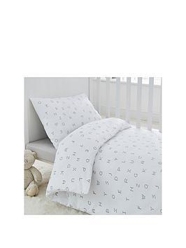 Silentnight Silentnight Silentnight Alphabet Cot Bed Duvet & Pillowcase Set Picture