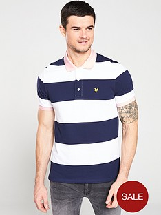lyle-scott-wide-stripe-polo-navywhite