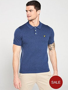 lyle-scott-vintagenbspknitted-polo-shirt-navy