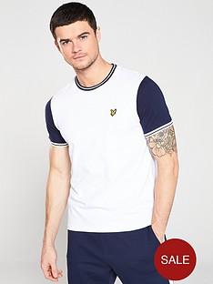 lyle-scott-tipped-t-shirt-white