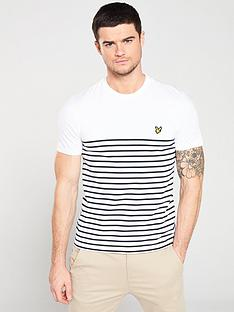 376f2634bd1a Lyle & Scott Breton Stripe T-Shirt - White/Navy