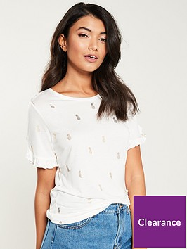 oasis-frill-sleeve-foil-pineapple-jersey-tee-off-white