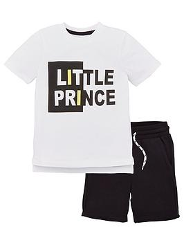 v-by-very-boys-2-piece-little-prince-t-shirt-and-shorts-outfit-whiteblack