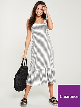 v-by-very-textured-loose-fit-midi-dress-white-navy
