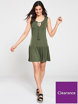 v-by-very-mini-frill-dress-khaki