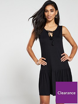 v-by-very-mini-frill-dress-black