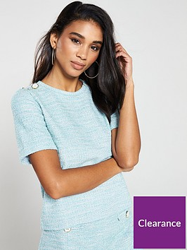 v-by-very-pearl-textured-top-co-ord-blue