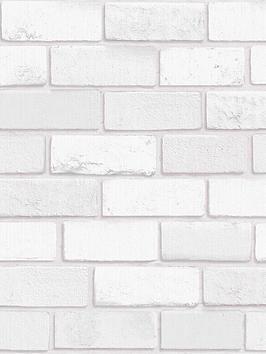 ARTHOUSE Arthouse Diamond Brick White Wallpaper Picture