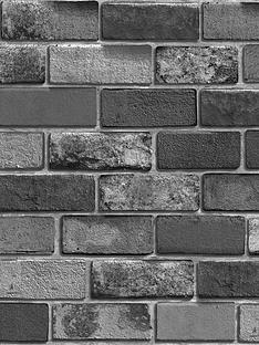 arthouse-metallic-brick-wallpaper