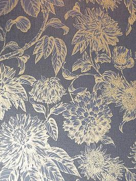 ARTHOUSE  Arthouse  Luxe Botanica Navy And Gold Wallpaper
