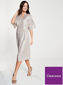 river-island-river-island-sequin-kimono-dress-silver