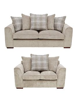 Very Campbell Fabric 3 Seater + 2 Seater Scatter Back Sofa Set (Buy And  ... Picture