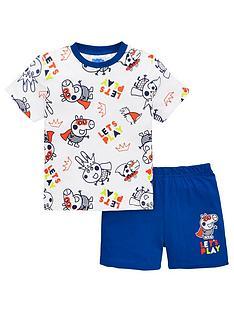 george-pig-george-pig-boysnbspshortie-pyjamas-whiteblue