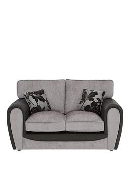 Very Fleur Fabric And Faux Snakeskin 2 Seater Standard Back Sofa Picture