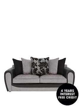 fleur-fabric-and-faux-snakeskin-3-seater-scatter-back-sofa