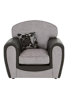 Very Fleur Fabric And Snakeskin Armchair Picture
