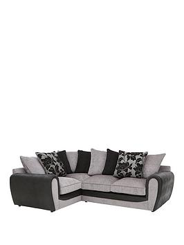 Very Fabric And Snakeskin Left Hand Corner Group Scatter Back Sofa Picture