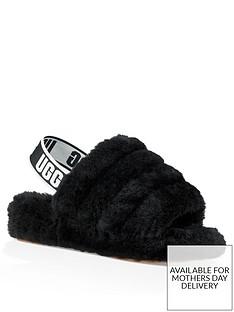 ugg-fluff-yeah-slide-sandals-black
