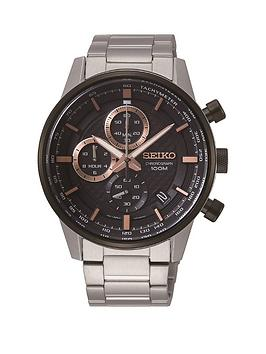 seiko-seiko-black-and-rose-gold-detail-chronograph-dial-stainless-steel-bracelet-mens-watch