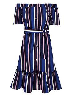 river-island-girls-stripe-bardot-midi-dress-blue