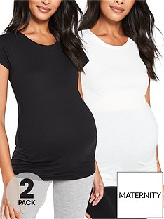 v-by-very-valuenbsp2-pack-maternity-tees-black-white